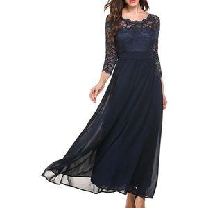 Women's navy lace dress